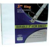 "8 Units of Binder - 3"" - View Thru - Assorted Colors - Binder"