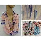 48 Units of Light Weight Infinity Scarf [Soft Color Fade] - Womens Fashion Scarves