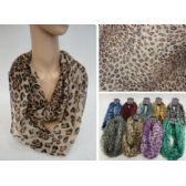 48 Units of Light Weight Infinity Scarf [Colorful Leopard] - Womens Fashion Scarves