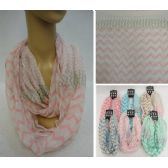 48 Units of Light Weight Infinity Scarf [Chevron & Polka Dots] - Womens Fashion Scarves