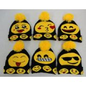 36 Units of Knitted Toboggan with PomPom [Emojis]