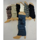 12 Units of Knitted Leg Warmers [PomPoms] - Winter Sets Scarves , Hats & Gloves