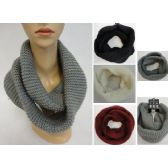 24 Units of Knitted Infinity Scarf [Tight Knit] - Winter Scarves