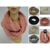 36 Units of Knitted Infinity Scarf [Lg Cable Knit] - Winter Scarves