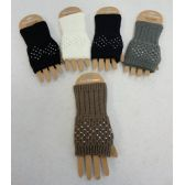 24 Units of Knitted Hand Warmers [Rhinestones] - Arm & Leg Warmers