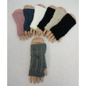 48 Units of Knitted Hand Warmers [Cable Knit] - Arm & Leg Warmers
