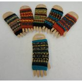 24 Units of Knitted Hand Warmer [Aztec Print]