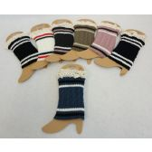 24 Units of Knitted Boot Cuffs w Antique Lace [Cable Knit Varsity]