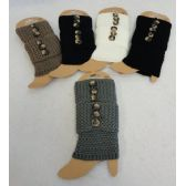 24 Units of Knitted Boot Cuffs [Tight Knit/3 Buttons]