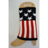 24 Units of Knitted Boot Cuffs [Stars & Stripes]