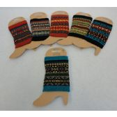 48 Units of Knitted Boot Cuffs [Aztec Print]