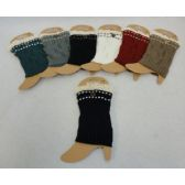 24 Units of Knitted Boot Cuffs [Antique Lace/1 Button