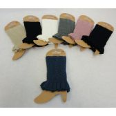 24 Units of Knitted Boot Cuff w Ruffle [Braided Knit]