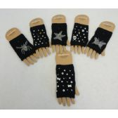 48 Units of Hand Warmer [Black with Stud Designs] - Arm & Leg Warmers