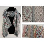 36 Units of Fashion Scarf [Southwestern Pattern] - Winter Scarves