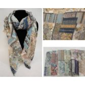 36 Units of Fashion Scarf [Paisley-Floral] - Winter Scarves