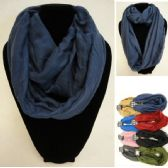 36 Units of Extra-Wide Light Weight Infinity Scarf [Solid Colors] - Womens Fashion Scarves