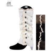 48 Units of Lace Design Boot Cuff