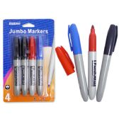 96 Units of Markers Jumbo 4pcbc. Black Blue Red