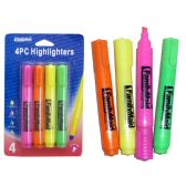 96 Units of 4 Piece Highlighters - Markers and Highlighters