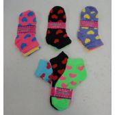 60 Units of Ladies Heart Printed Ankle Socks