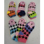 60 Units of Ladies/Teen Anklets 9-11 [Colorful Houndstooth]