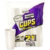 12 Units of 21CT 20 oz. FOAM CUP