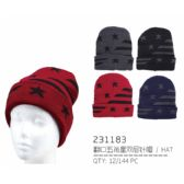 48 Units of Stars and Stripes Winter Hat - Winter Beanie Hats