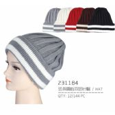 48 Units of Striped Winter Hat - Winter Beanie Hats