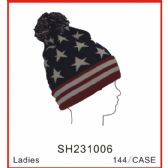 72 Units of Stars and Stripes Winter Hat - Winter Sets Scarves , Hats & Gloves