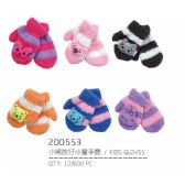 72 Units of Assorted Color Mittens For Kids - Kids Winter Gloves