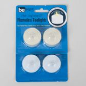 96 Units of Tealight Led 2pk White/ivory W/flicker Flame 12pc Mdsgstrip Be Bright Blister