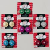96 Units of Tealight Led 2pk Glitter 7asst 12pc Mdsgstrip Trad & Fashion Colors Christmas Blister Card