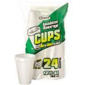 60 Units of 24CT 12 oz. FOAM CUP