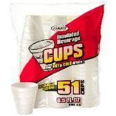 96 Units of 51CT 8.5 oz. FOAM CUP