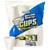 96 Units of 51CT 6.4 oz. FOAM CUP