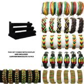 72 Units of BRAC 011 LEATHER BRACELETS 72 PCS WITH DISPLAY - Bracelets