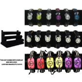 72 Units of BRAC 010 LEATHER BRACELETS 72 PCS WITH DISPLAY - Bracelets