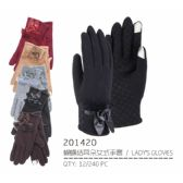 72 Units of Lady's Winter Touch Glove With Faux Leather - Conductive Texting Gloves