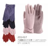 72 Units of Ladies Touch Gloves With Bow - Knitted Stretch Gloves