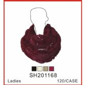 60 Units of Lady's Assorted Colro Infinity Scarf - Winter Sets Scarves , Hats & Gloves
