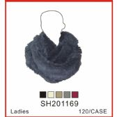 60 Units of Lady's Assorted Color Infinity Scarf - Winter Sets Scarves , Hats & Gloves