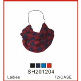 72 Units of Lady's Assorted Color Infinity Scarf - Winter Sets Scarves , Hats & Gloves