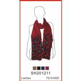 72 Units of Lady's Assorted Color Scarf - Winter Sets Scarves , Hats & Gloves