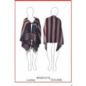 24 Units of Ladies' Poncho - Winter Pashminas and Ponchos