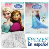 72 Units of Disney's Frozen Jumbo Coloring Books in Spanish