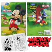 72 Units of Disney's Mickey Mouse Jumbo Coloring Books