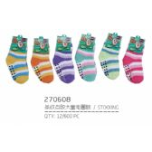 144 Units of Infant Assorted Color Fuzzy Socks - Baby Apparel