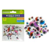 144 Units of Wiggle Eyes 50pc Asst Size - Craft Kits