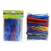 144 Units of Metallic Twist Tie 600pc Asst - Craft Kits
